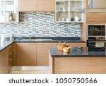 modern  bright  clean kitchen... | Shutterstock . vector #1050750566