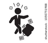 angry businessman icon. vector. | Shutterstock .eps vector #1050751988