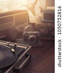 vintage retro revival objects... | Shutterstock . vector #1050752816