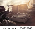 vintage retro revival objects... | Shutterstock . vector #1050752843