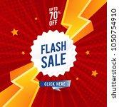 flash sale banner template... | Shutterstock .eps vector #1050754910