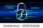 safety concept  closed padlock...   Shutterstock .eps vector #1050762038