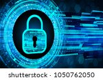 safety concept  closed padlock...   Shutterstock .eps vector #1050762050