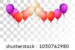 helium balloons realistic... | Shutterstock .eps vector #1050762980
