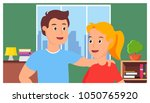 photo of a guy and a girl in... | Shutterstock .eps vector #1050765920