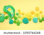 peacock feather. carnival.... | Shutterstock . vector #1050766268