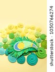 peacock feather. carnival....   Shutterstock . vector #1050766274