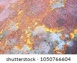 beatiful pattern old metal iron ...   Shutterstock . vector #1050766604