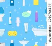 hygiene personal care vector... | Shutterstock .eps vector #1050766874