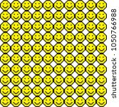 seamless pattern with smile... | Shutterstock .eps vector #1050766988