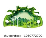 save the world with ecology and ... | Shutterstock .eps vector #1050772700