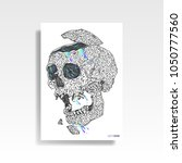 abstract multicolored skull... | Shutterstock .eps vector #1050777560