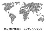 world map collage constructed... | Shutterstock . vector #1050777908