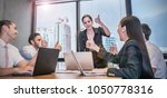 young business people working... | Shutterstock . vector #1050778316