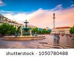 lisbon  portugal at rossio...   Shutterstock . vector #1050780488