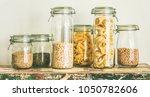 various uncooked cereals ...   Shutterstock . vector #1050782606