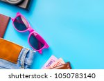 travel accessories costumes... | Shutterstock . vector #1050783140