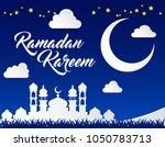beautiful ramadan kareem... | Shutterstock .eps vector #1050783713