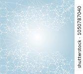hexagonal abstract background....   Shutterstock .eps vector #1050787040