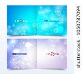 scientific templates square...   Shutterstock .eps vector #1050787094