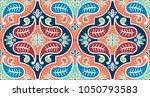 seamless vector tile pattern....   Shutterstock .eps vector #1050793583