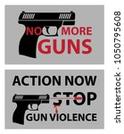no more guns poster  march for... | Shutterstock .eps vector #1050795608