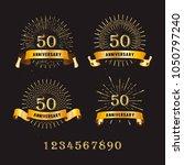banner  design anniversary   | Shutterstock .eps vector #1050797240