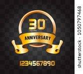banner  design anniversary  | Shutterstock .eps vector #1050797468
