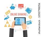 modern online banking. e... | Shutterstock .eps vector #1050798056