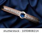 beautiful platinum bracelet....   Shutterstock . vector #1050808214