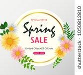 spring sale background banner... | Shutterstock .eps vector #1050812810