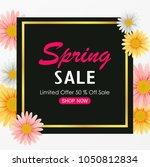 spring sale background banner... | Shutterstock .eps vector #1050812834