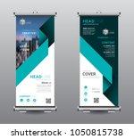 roll up banner standee business ... | Shutterstock .eps vector #1050815738