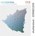 nicaragua polygonal  mosaic...   Shutterstock .eps vector #1050821333