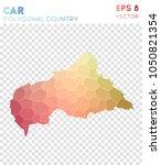 car polygonal  mosaic style... | Shutterstock .eps vector #1050821354