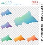 car geometric polygonal  mosaic ... | Shutterstock .eps vector #1050821564