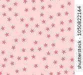 pink stars seamless pattern on... | Shutterstock .eps vector #1050822164