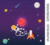 solar system exploration eps10... | Shutterstock .eps vector #1050824006