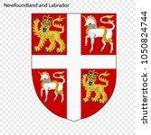 emblem of newfoundland and... | Shutterstock .eps vector #1050824744