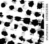 grunge halftone black and white ... | Shutterstock . vector #1050828386