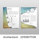 modern triangle presentation... | Shutterstock .eps vector #1050837938