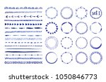set of 16 seamless handdrawn... | Shutterstock .eps vector #1050846773