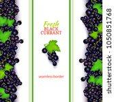 black currant fruit vertical...   Shutterstock .eps vector #1050851768