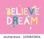 typography cartoon cute print | Shutterstock .eps vector #1050853856