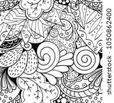tracery seamless pattern.... | Shutterstock .eps vector #1050862400