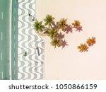 aerial view of copacabana beach ... | Shutterstock . vector #1050866159