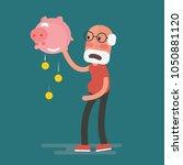 financial crisis   senior man... | Shutterstock .eps vector #1050881120