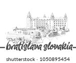 bratislava castle  slovakia   Shutterstock .eps vector #1050895454