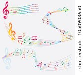 abstract colorful music notes... | Shutterstock .eps vector #1050903650