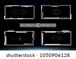 hud hi tech futuristic white... | Shutterstock .eps vector #1050906128
